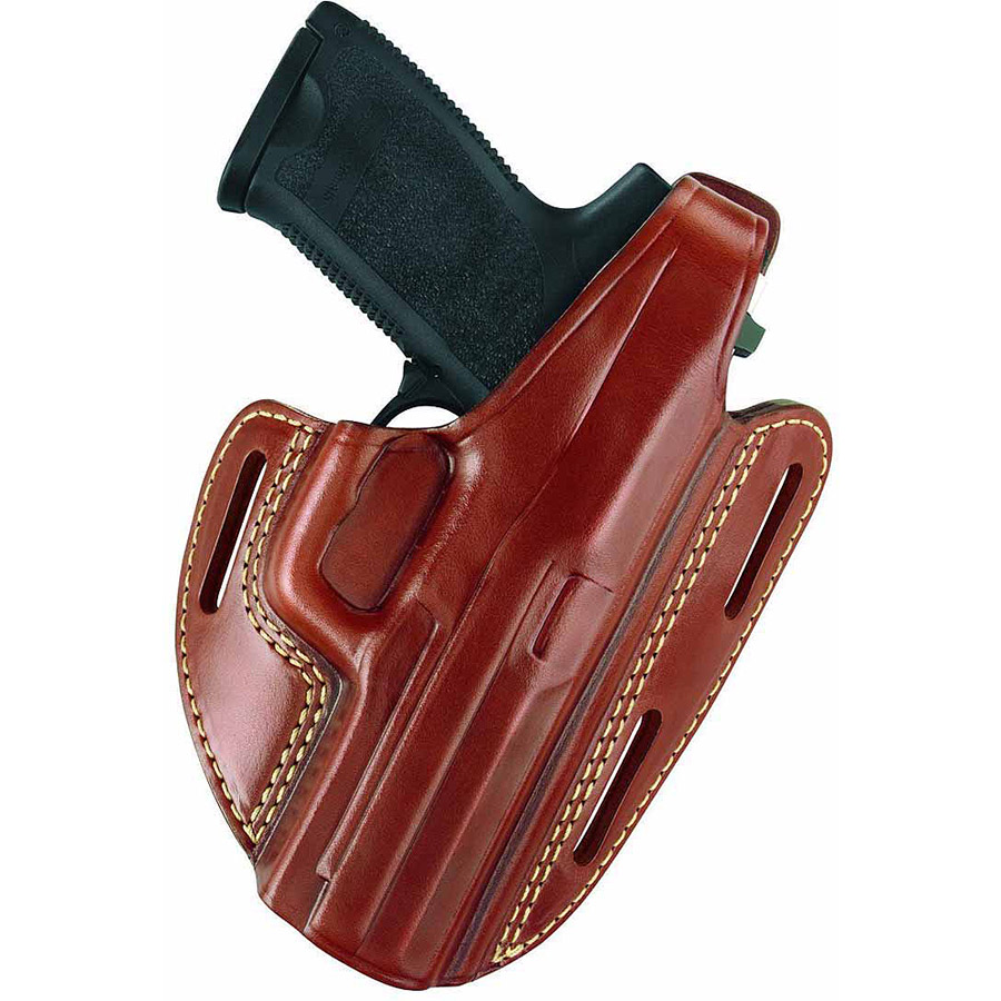 Gould and Goodrich 803 Gold Line 3-Slot Pancake Holster, Left-Hand