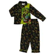 Teenage Mutant Ninja Turtles Boys Black Flannel Pajamas TMNT Sleepwear Set