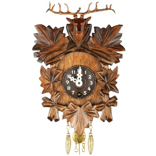 Deer Head Key Wound Cuckoo Clock