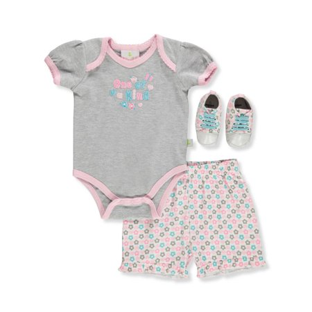 Duck Duck Goose Baby Girls' 3-Piece Shorts Set Outfit](Duck Outfit)