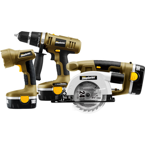 Rockwell ShopSeries 18-Volt Cordless Combo Kit, 3pc