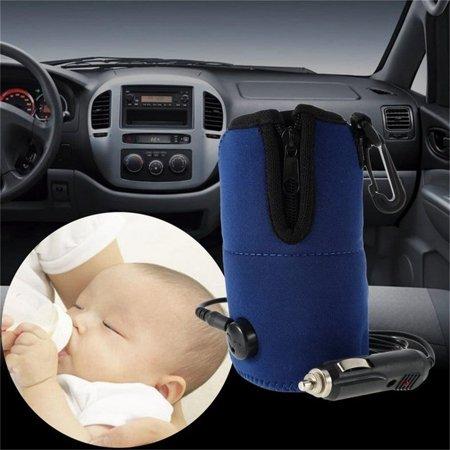 Food Milk Bottle Heaters Travel Cup Warmer Heater Portable DC 12V in Car Baby Bottle Storage Bag