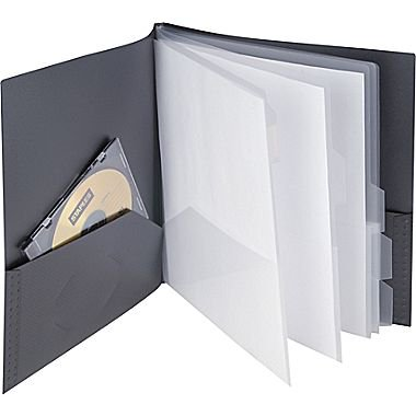 staples textured 10 pocket presentation book 20642 cc 13682