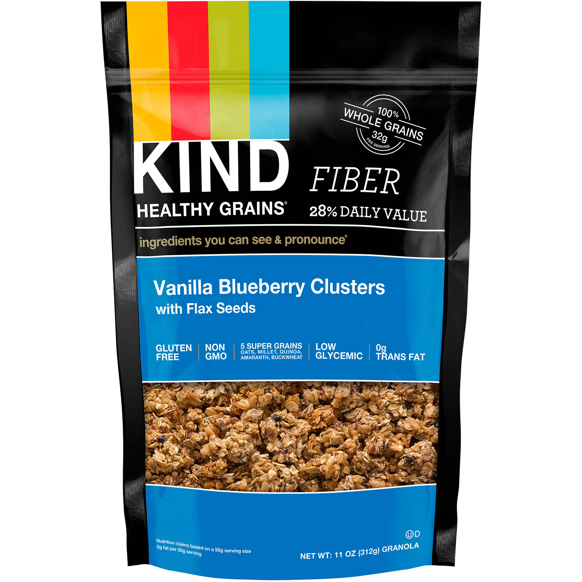 KIND Healthy Grains Clusters, Vanilla Blueberry Clusters with Flax Seeds, 11 Ounces, 1 Count
