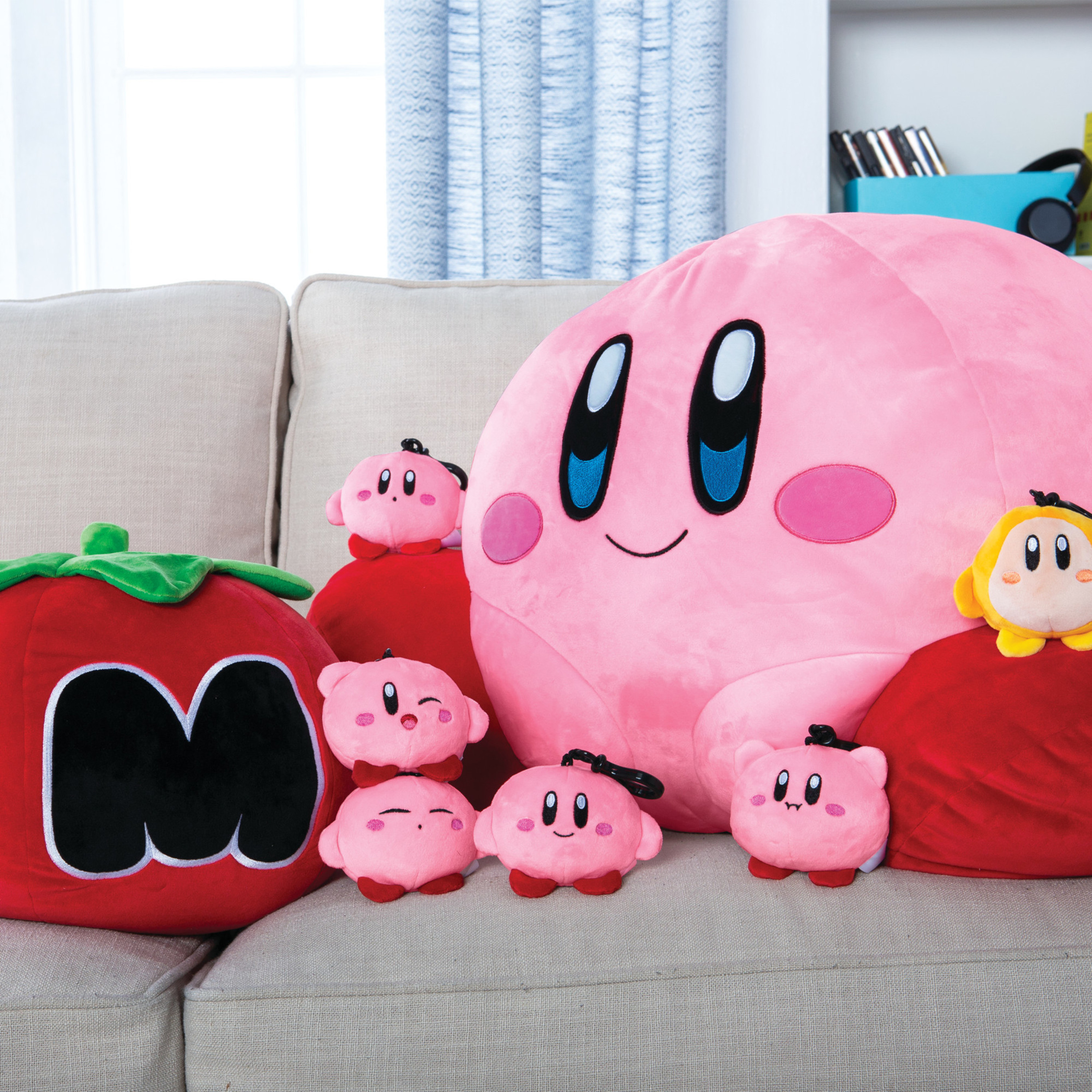 Smile Kirby of the star Mocchi-Mocchi Style Face Mascot Kirby Japan