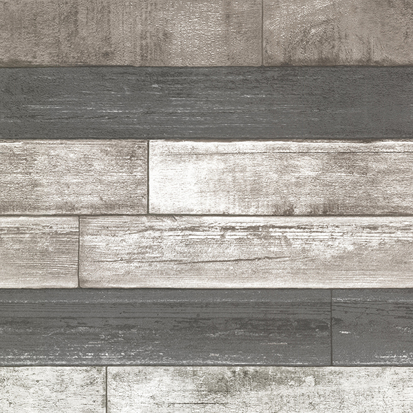 Brewster Wood Grey Ashwile Wallpaper