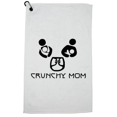 Feeding Clip - Crunchy Mom - Nursing Breast Feeding Support Golf Towel with Carabiner Clip