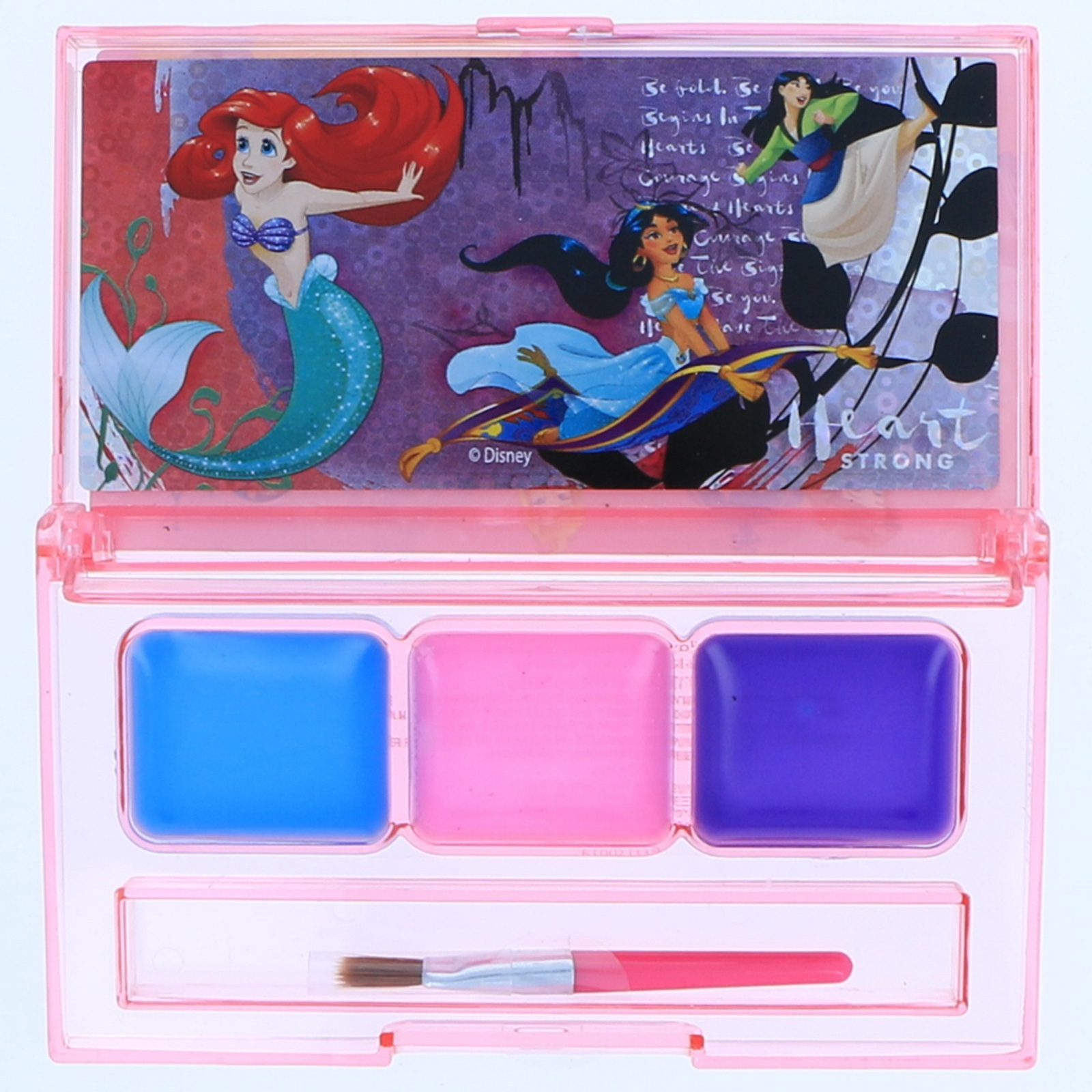 Licensed Girls Lip Gloss Compact Kids Make Up Cosmetic Gift Set (3 Characters)