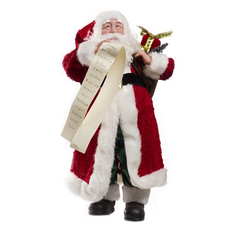 Large Christmas Santa Claus Figurine Decoration Red