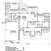 TheHouseDesigners-1169 Construction-Ready Southern Country House Plan with Basement Foundation (5 Printed Sets)