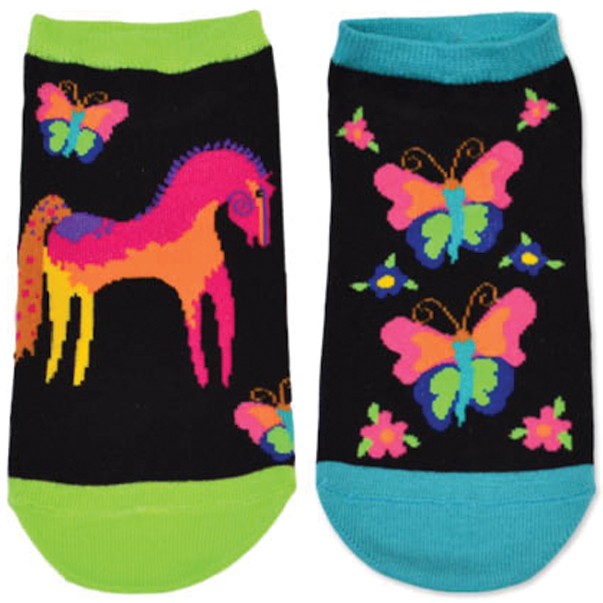 Laurel Burch Socks 2/Pair-Mystical Horse