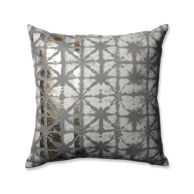 Pillow Perfect 602059 165 In Griffin Gold Throw Pillow Grey