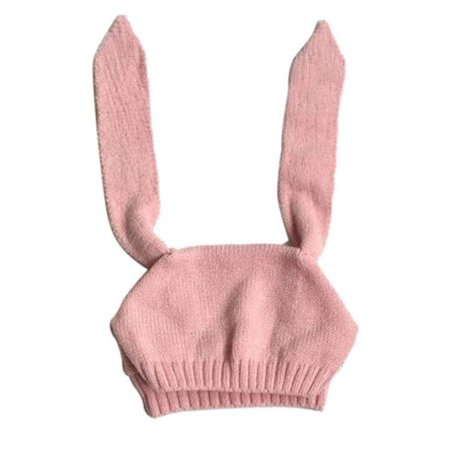 Costyle Winter Baby Toddler Kids Boy Girl Knitted Rabbit Crochet Ear Beanie Warm Hat Cap