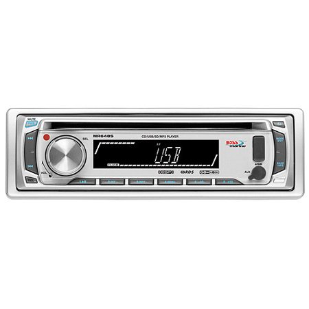 Boss Audio MR648S 1-DIN Marine CD/MP3 Receiver, Silver