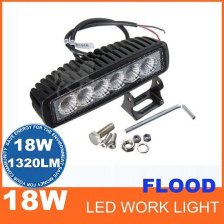 Led Truck - GZYF 1PC 6 inch 18W LED Work Off Road Flood Light Bar Fog Driving Lamp Truck Car SUV ATV