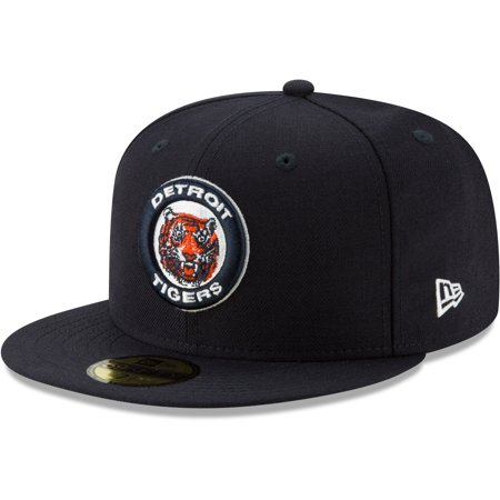Detroit Tigers New Era Cooperstown Collection Alt Logo Pack 59FIFTY Fitted Hat - Navy