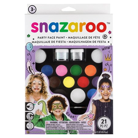 Face Paint Ultimate Party Pack, Suitable For Sensitive Skin – Snazaroo face paints are specially formulated to be friendly to the most delicate skin.., By - Snazaroo Face Paints Halloween