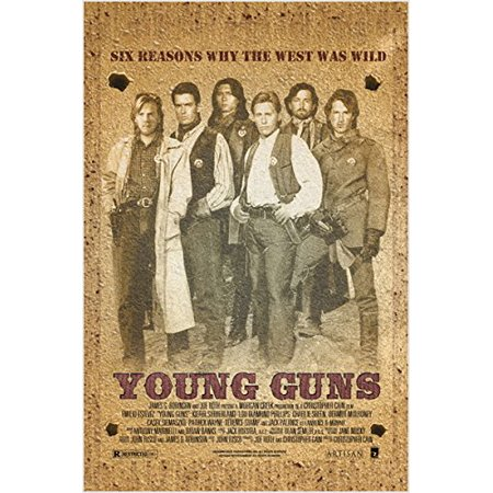 Wild West Vintage Movie Poster Young Guns Kiefer Sutherland 24X36 (Wild West Wanted Poster)