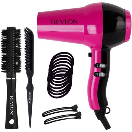 cf21e4bfe2f669 Revlon Ceramic IONIC Dryer Blowout Kit, Pink, 15 pc - Walmart.com