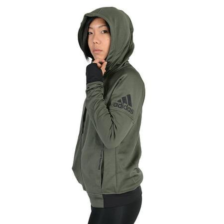 Adidas Womens Adidas Infinite Series Daybreaker Hoodie Army - Adidas Womens Green