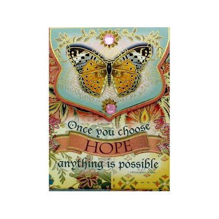 Punch Studio Note Pad Pocket Wow Hope Butterfly
