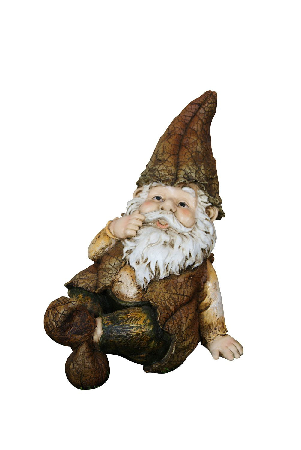 9 Inch Rainforest Sitting Gnome Garden Statue by Garden Gnomes