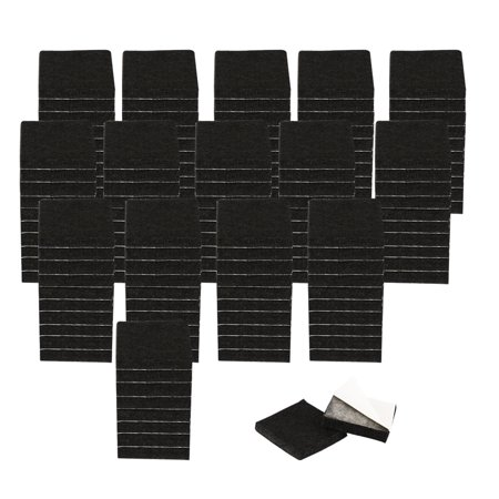 "Felt Pad Square 3/4"" Self Sticky for Floor Protector Desk Leg Black, 150pcs - image 7 de 7"