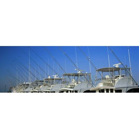 Yacht Charter Boats At A Harbor Oregon Inlet Outer Banks North Carolina Usa Canvas Art   Panoramic Images  27 X 9