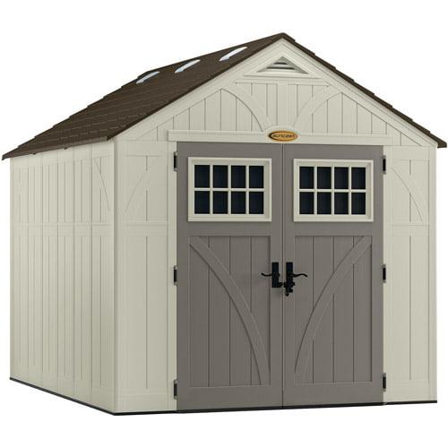 Suncast 574 cu ft Tremont® 8x10 Storage Shed, Vanilla, BMS8100