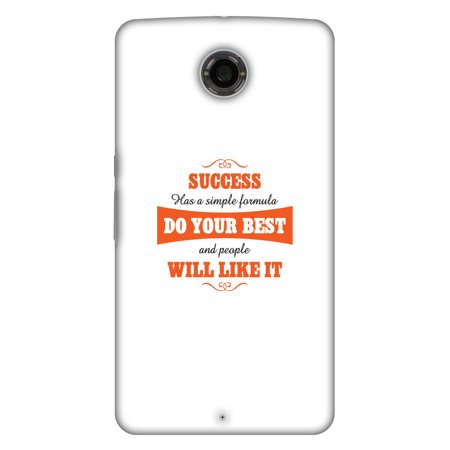Motorola Nexus 6 XT1103 Case, Google Nexus 6 XT1103 Case - Success Do Your Best,Hard Plastic Back Cover, Slim Profile Cute Printed Designer Snap on Case with Screen Cleaning