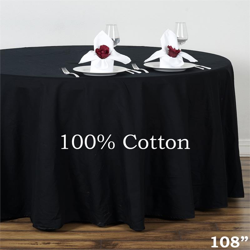 "Click here to buy BalsaCircle 108"" Round Cotton Tablecloths Wedding Linens High Quality."