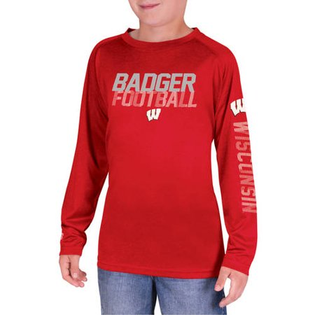 NCAA Wisconsin Badgers Boys Long Sleeve Impact T-Shirt