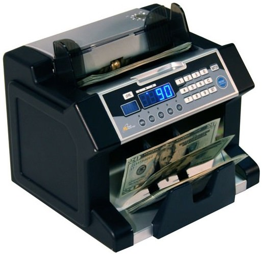 Front Loading 1,200 Bills Per Minute Bill Counter