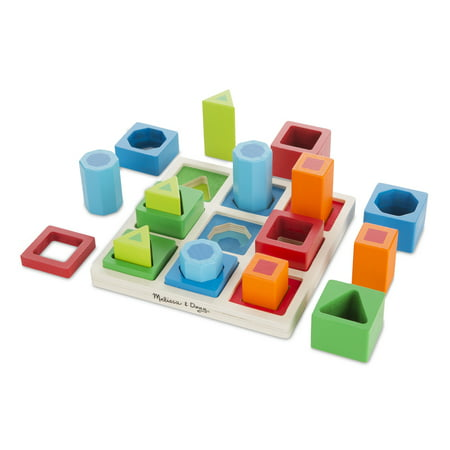 Melissa & Doug Shape Sequence Wooden Sorting Set and Educational
