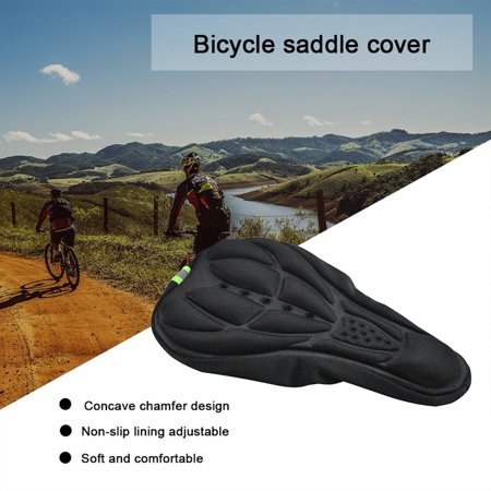 Cycling Bicycle Silicone Non-slip Saddle Seat Cover Cushion Soft Pad Thick Saddle Bicycle Seat Cushion Cover Shock Absorption - image 5 de 7