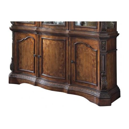 Ashley D70580 Ledelle Dining Room Buffet With Elaborately Moulded Ornamentation Ash Swirl Asian Hardwoods And Birch