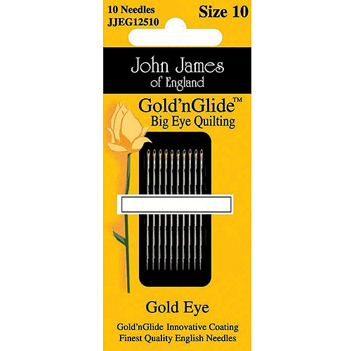 Gold'n Glide Big Eye Quilting Needles