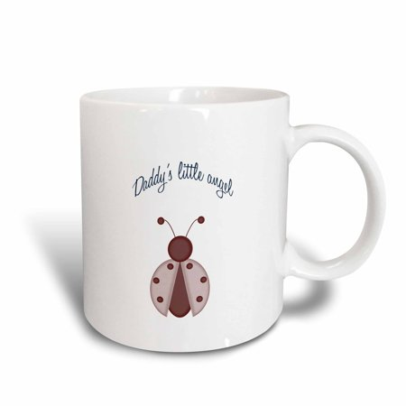 3dRose Daddys little angel cute ladybug kids art, Ceramic Mug, -