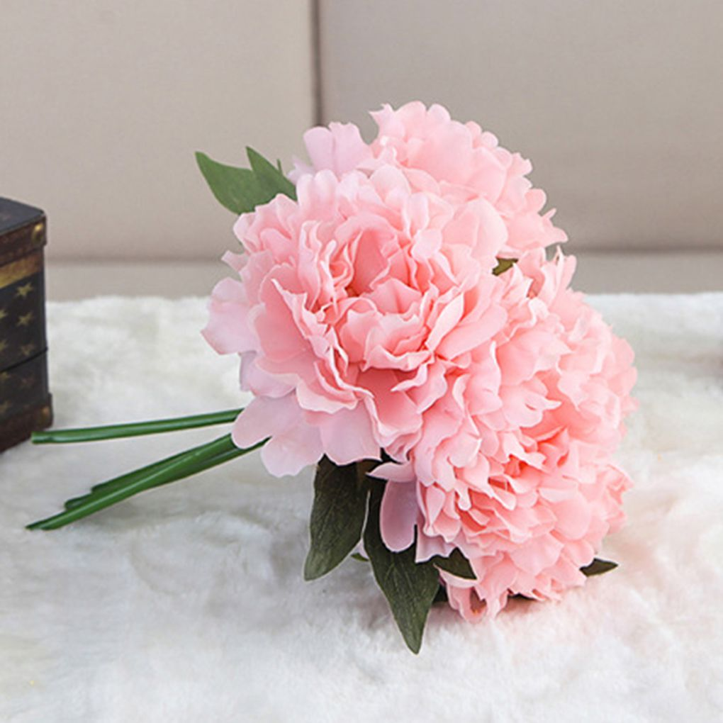 Fake Flowers Vintage Artificial Peony Silk Flowers Wedding Home Decoration(Pack of 1 )