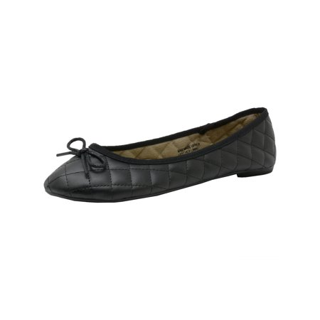 Alpine Swiss Aster Womens Comfort Ballet Flats Faux Leather Slip On - Toddler Black Ballet Flats