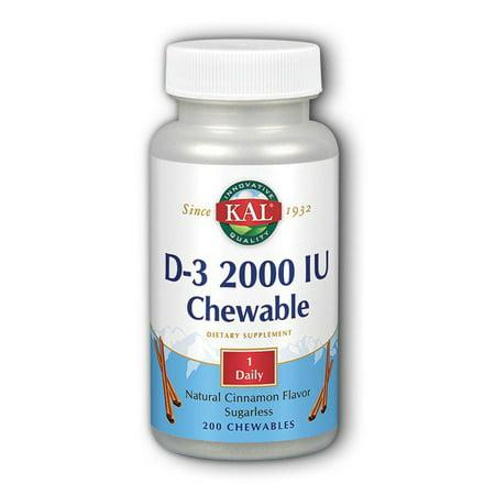 - D-3 2000IU Kal 200 Chewable