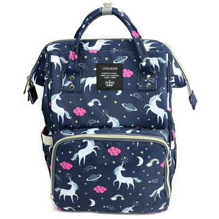 Unicorn Cloud Diaper Nappy Backpack, Multifunction Waterproof Travel Bag, Large Capacity, Mommy Baby (Pink Toile Laminated Diaper Bag)