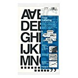 Chartpak Self-Adhesive Vinyl (01040) Capital Letters and Numbers, 1-1/2 Inches High, Black