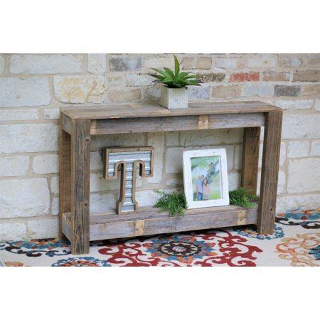 Doug and Cristy Designs Farmhouse Distressed Off-white Console Table