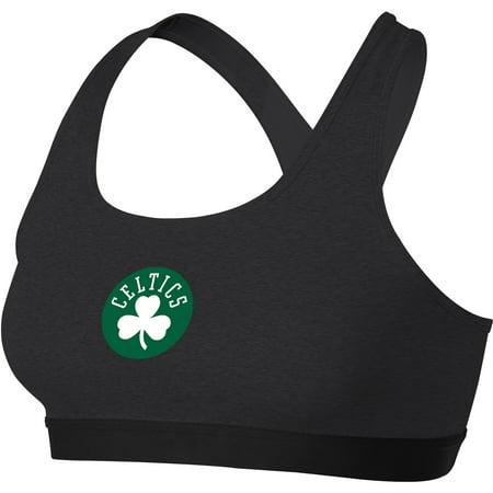Boston Celtics Nike Women's Primary Logo Performance Pro Classic Sports Bra - Heathered Charcoal (Nike Pro Sports Bra Kids)