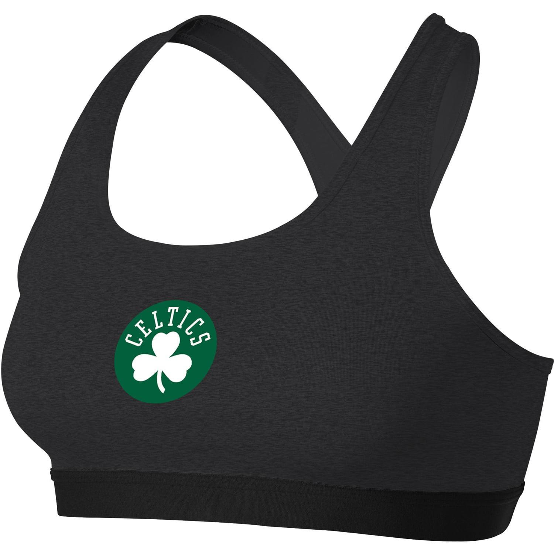 Boston Celtics Nike Women's Primary Logo Performance Pro Classic Sports Bra - Heathered Charcoal