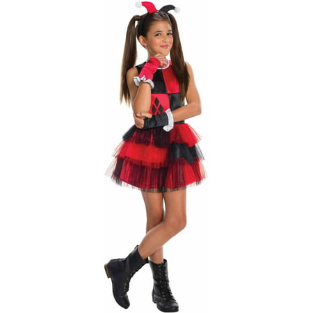 Harley Quinn Child's Costume, Medium (8-10) - Hillbilly Halloween Costumes Female