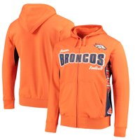 926131ecbc0b Product Image Denver Broncos Hands High Player Full-Zip Hoodie - Orange Navy