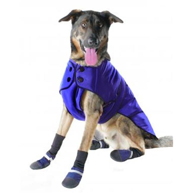 Muttluks BL28BU 3-Layer Belted Winter Dog Coat - Size 28,...