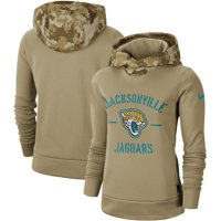 Jacksonville Jaguars Nike Women's 2019 Salute to Service Therma Pullover Hoodie - Khaki